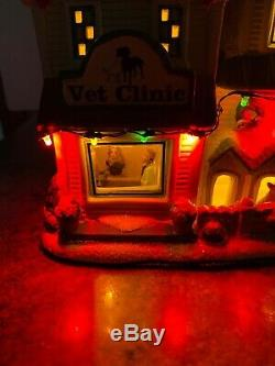St Nicholas Square Village Christmas Vet Clinic Pet Dog Puppy Veterinarian New