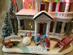 St Nicholas Square Village Victorian White Christmas House Deer Kids Sleigh