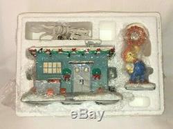 The Simpsons 2005 Hawthorne Christmas Village Lard Lad Donut Shop with COA
