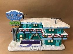 Simpsons Christmas Village.The Simpsons Sleep Eazy Motel Hawthorne Christmas Village