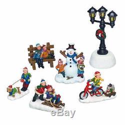 Town Square Christmas Village Scene 30-Piece Set Lights & Music, Xmas Decor New