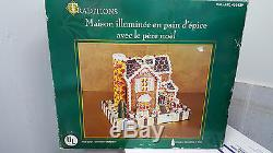 Traditions Lighted Gingerbread House With Santa New In Box