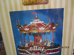 Train Village House Carnival Musical Boardwalk Santa Carousel + Dept 56/lemax
