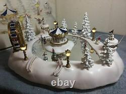 Trendmasters Christmas Magic Winter Wonderland Musical Ice Skating Pond (tested)