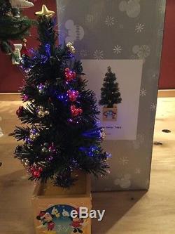 VERY RARE DISNEY VILLAGE MAIN STREET USA Fiber Optic TREE in ORIGINAL BOX