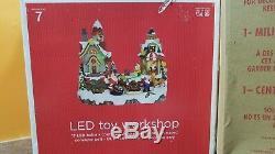 VIDEO Avon Winter Wonderland Fiber Optic Santa Toy Workshop Christmas Village