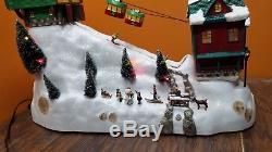 Christmas Village Ski Lift.Video Mr Christmas Winter Wonderland Cable Car Animated Ski