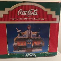 Vintage 1997 Coca Cola Christmas Village Diner Lighted House