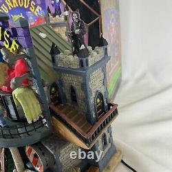 Vintage Lemax Spooky Town Funhouse Halloween Village Animated Sound w Box WORKS